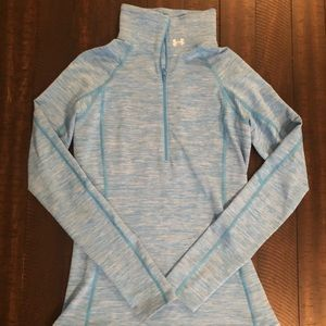 Blue Under Armour Half Zip Pullover Medium